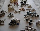 Stud sets, collar buttons, miscl. pieces. 20 different sets. Please read description.