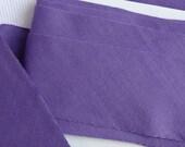"Purple Cotton Bias Tape, Binding Tape, Blanket Binding Tape, Cotton Fabric Binding Tape, Craft Trim, 2"" (5 cm) Wide Bias Tape, 5 Yards"