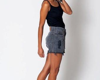 35% OFF SPRING SALE The Vintage Distressed Dark Grey Levi's Shorts