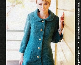 Abbey Coat Sewing Pattern By Jamie Christina 2 Versions- Long & Short- Szs 2-18