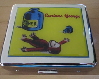 Curious George Ether 8 Day Pill Box With Mirror