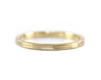 Thin 14k Gold Band- 14k solid gold, 1.7mm band, thin gold band, wedding band, handmade, gold ring, stack ring, thin ring, bridal, delicate