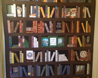 Bookcase quilt custom made to order