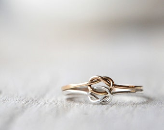 Love Knots Ring Gold Filled and Sterling Silver, Love, friendship, BFF, anniversary, birthday