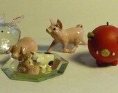 Vintage assortment of collectible miniature pigs