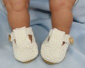 HALF PRICE SALE Madmonkeyknits - Baby Simple T Bar Sandals knitting pattern pdf download - Instant Digital File pdf knitting pattern