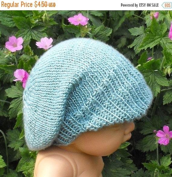 30% Discount Sale Instant Digital File pdf download - Baby Silk Peak Slouch Hat pdf download knitting pattern