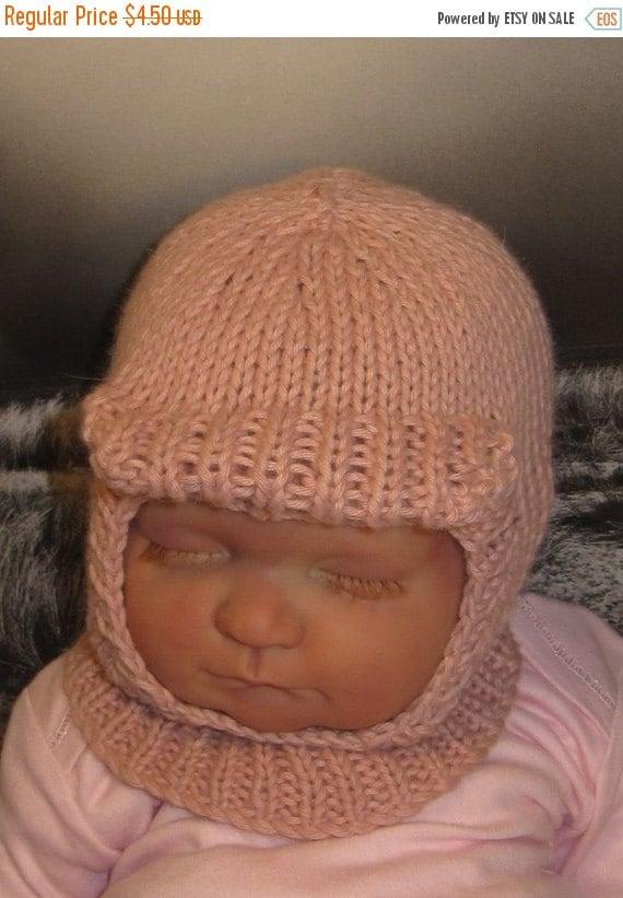 HALF PRICE SALE digital file download knitting pattern only-madmonkeyknits Baby Soft Peak Balaclava pdf knitting pattern