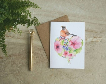 Instant Download Printable Greeting Card, Watercolor, Easter, Mother's Day, Thank-you A6 & A7 Sizes