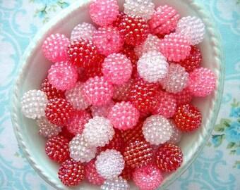 Berry Beads - Valentine Mix - 15mm - Set of 20