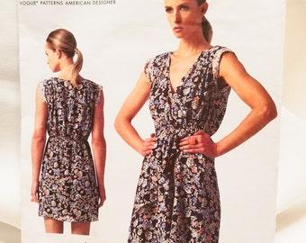 Vogue V1344  Dress Pattern  2013, uncut Rebecca Taylor Size 6-14