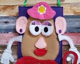 Build Your Own Spud Quiet Activity Bag or Quiet Book Page...Fun Activity Bag for Learning..can be customized