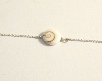 Sterling silver necklace with Shiva eye