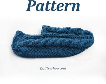 Knitting Pattern Slipper Socks - Pattern for Knitted Slippers - Knitted Slipper Patterns - Knitted Slippers for Women or Man n81