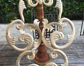 Metal scrollwork Candle sconce, silver aged finish.