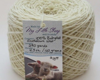 Babydoll Southdown Wool - Sport Wt. - Several Available