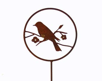 Bird Garden Stake-FREE SHIPPING- Home and Garden Metal Sculpture Decor