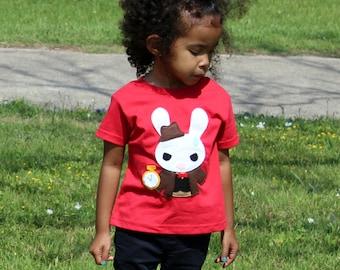 White Rabbit - Alice's Adventure in Wonderland - Kids T-shirt - Gift