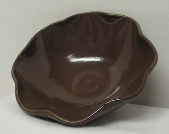 Porcelain Cocoa Semi-Matte Flower Bowl