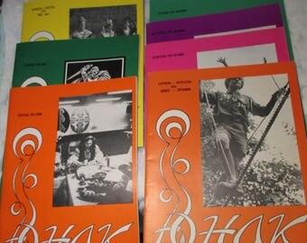 7 Back Issues YUNAK Ukranian Monthly Magazine 1974 retro vintage mid century heritage