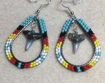 Shark aTooth Earrings