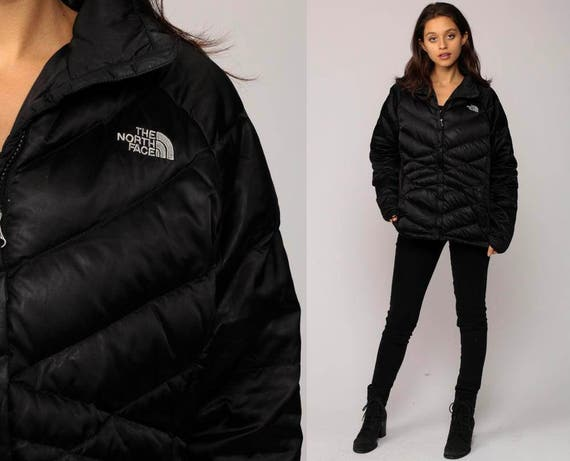 North Face Jacket Puffy Jacket Black Ski Jacket Down Quilted