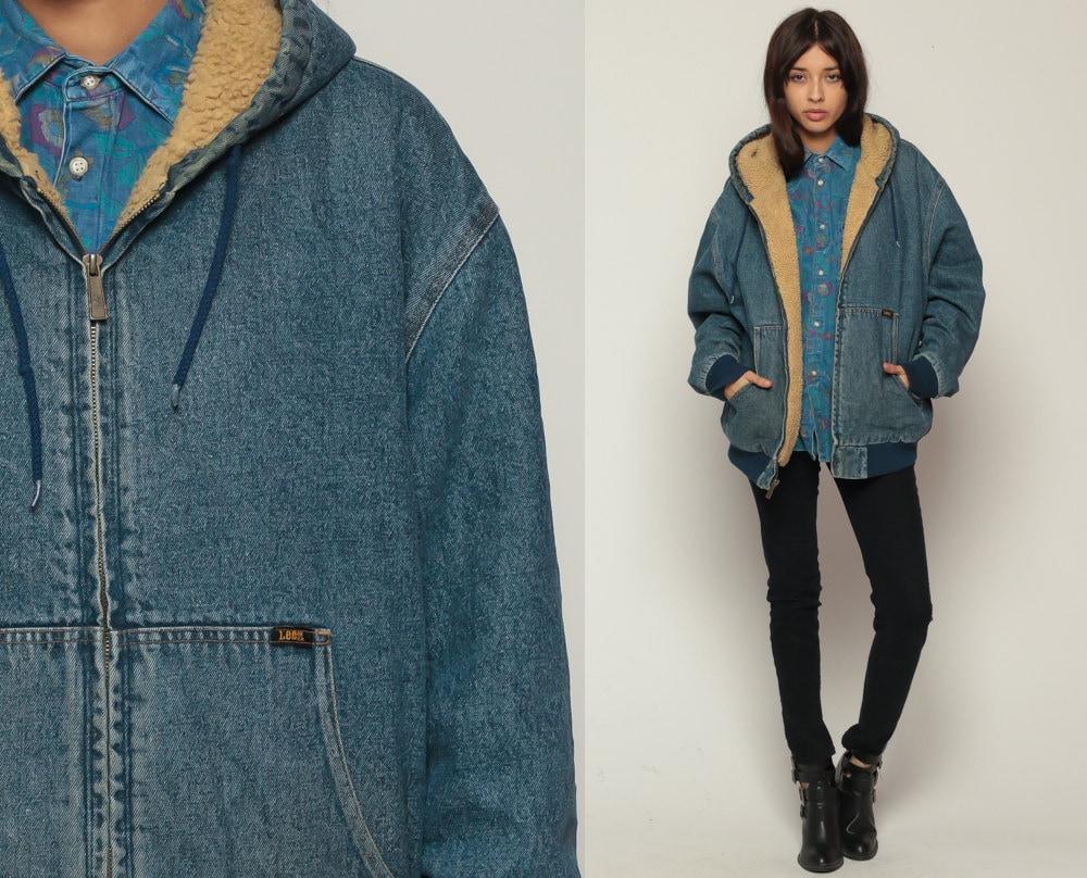 Black dress jean jacket 80s