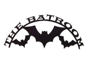 The Batroom Metal Wall Art - Free USA Shipping