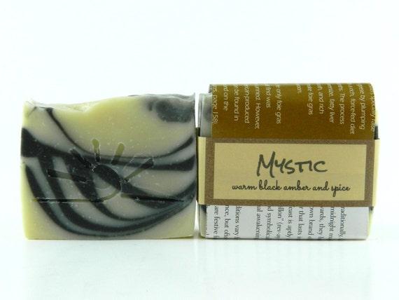 MYSTIC - Dark Amber Soap / Motorcycle Soap / Organic Soap for men