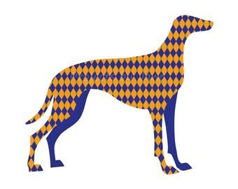 Greyhound Dog applique template | PDF applique pattern | applique template