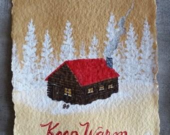 Keep Warm - Small Original Watercolour Painting