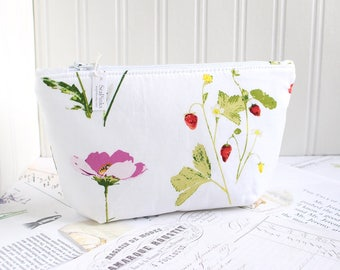 Botanica Summer Floral Cosmetic Bag Makeup Bag Floral Zipper Pouch Organizer Colorful Modern Print