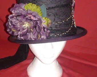 Bespoke Steampunk Custom Top Hat- your size and  preference of design.