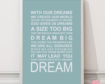 Expressions of your world Dream wall art print