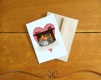 Valentine's Day Card-Dude/Carte de St-Valentin-Monsieur Chat