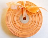 Vintage French 1930's-40's Woven Ribbon -Milliners Stock- 5/8 inch Ripe Peach