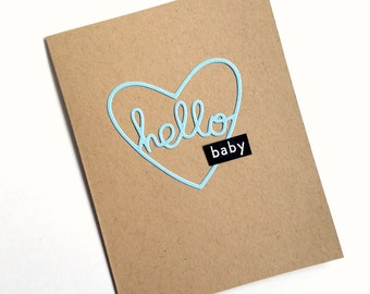 Baby Boy Card, Baby Congratulations, Baby Card, New Parent, Welcome Baby, Hello Baby, Pregnancy Announcement, Baby Shower Card, Baby Love