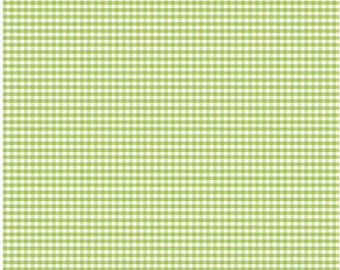 Green Small Gingham Fabric by Riley Blake Designs - Half Yard - 1/2 Yard - C440-30