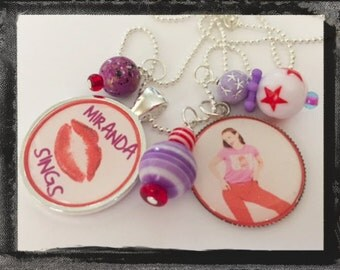 Miranda Sings Necklace Girls Jewelry - Bezel Pendant Style - One of a Kind -  Miranda Necklace - New Handmade