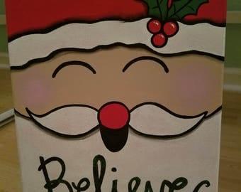 Santa painting, Christmas painting