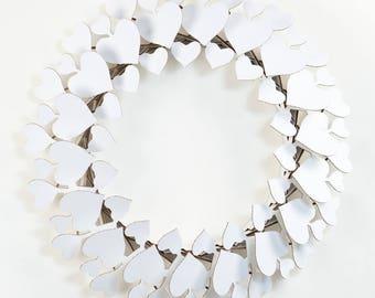 Cardboard Safari Cardboard Heart Wreath - White