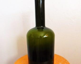 """Otto Brauer Holmegaard Dark Olive Green GULVASE 14.5"""" high"""