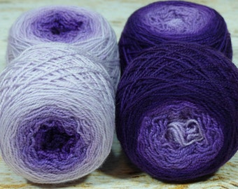 "Sock Twins "" Lavendula "" -Lleap Handpainted Gradient Sock Yarn"
