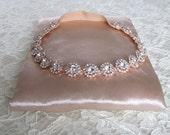 Rose Gold Crystal Rhinestone Bridal Garter,Wedding Garter,Bridal Accessories,Style #G23