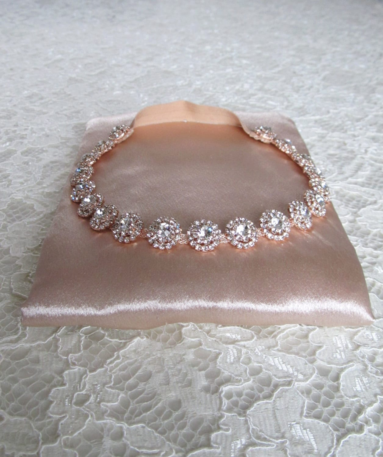 Rose Gold Crystal Rhinestone Bridal Garter,Wedding Garter,Bridal Accessories,Style #G23