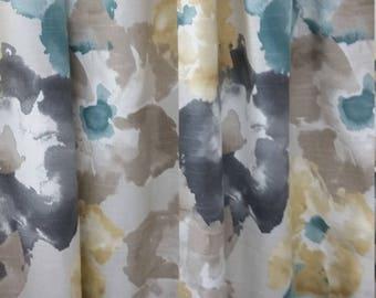 Robert Allen @ Home Aptura Floral Dew, Designer drapes, rod pocket curtain panels, lined drapes
