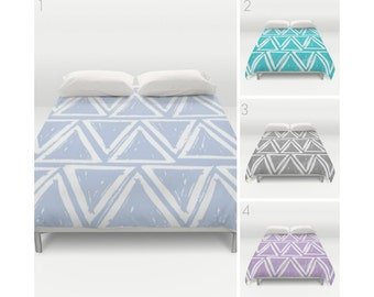 Periwinkle Duvet Cover - Twin XL Duvet - Gray duvet cover - Twin XL bedding - queen duvet cover - king duvet cover - full duvet cover