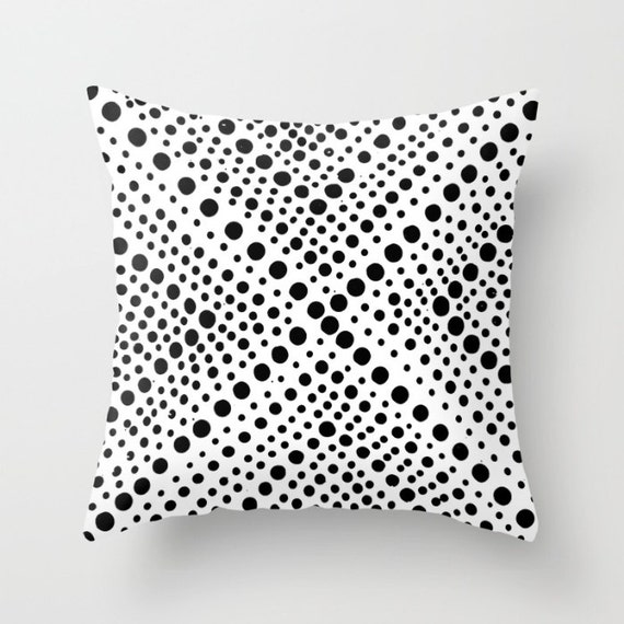 OUTDOOR Throw Pillow . Black and White Outdoor Pillow . Modern Throw Pillow Geometric . 16 18 20 inch . White Rectangle Pillow White Pillow