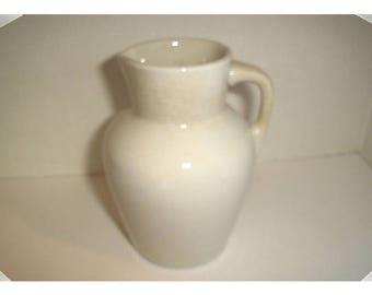 Light Beige Stoneware Cream Pitcher / Home Decor/Vintage*