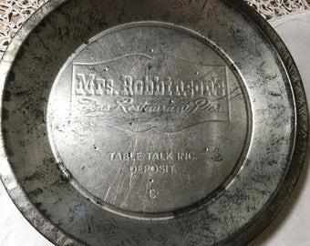 Vintage Pie Plate Mrs. Robinson Fine Restaurant Pies Table Talk Advertising Tin Pie Pan Plate Kitchenware Aluminum Pie Pan Baking Pan Bakery